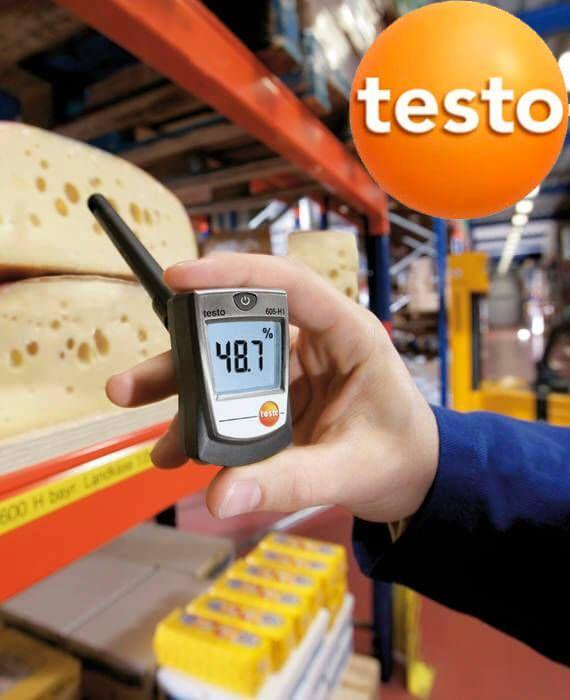 Máy ghi độ ẩm testo 605-h1 nhỏ gọn đa năng