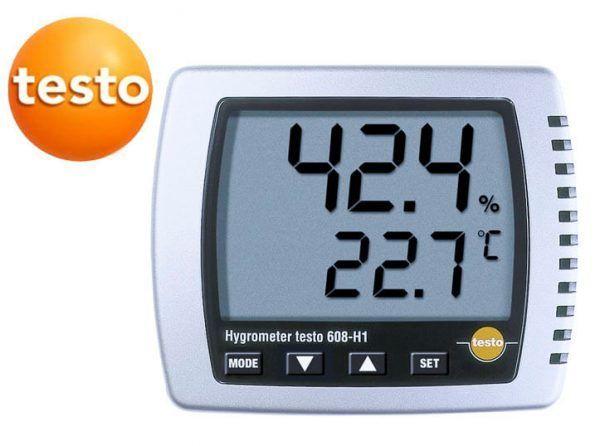 Máy ghi độ ẩm testo 608-h1 nhỏ gọn, chính xác