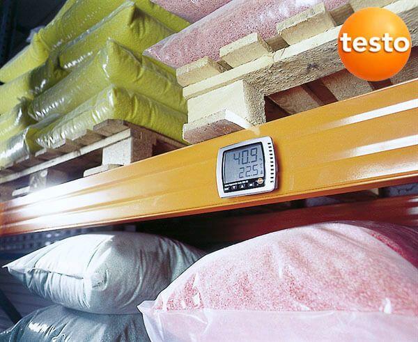 Máy ghi độ ẩm testo 608-h1 được nhiều kho xưởng tin dùng
