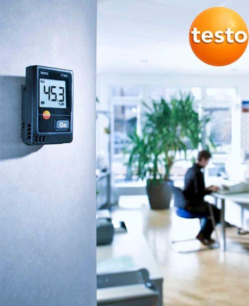 Thiết bị ghi nhiệt độ chính xác với testo 174h