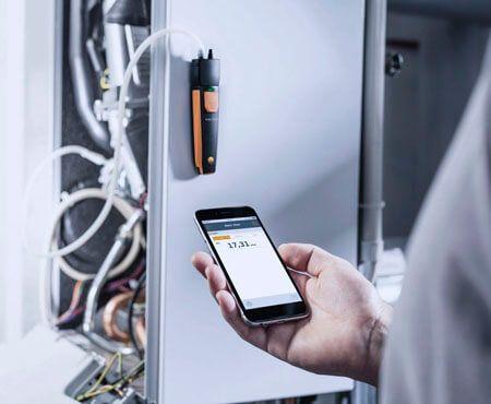Sử dụng máy đo áp suất Testo 510i qua điện thoại thông minh