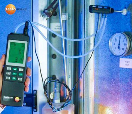 Ứng dụng máy đo áp suất Testo 521-1 ngày càng phổ biến