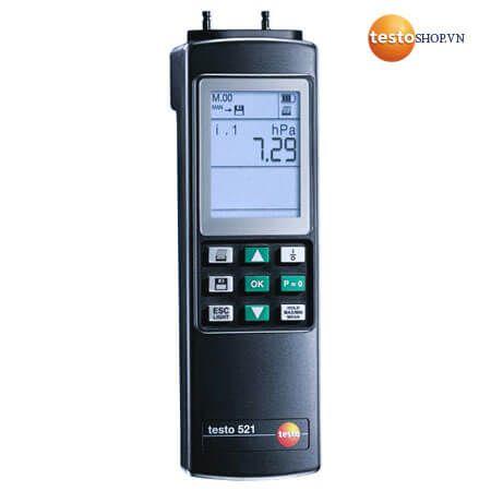 Thiết bị đo áp suất Testo 521-1 ứng dụng đo chênh lệch áp suất