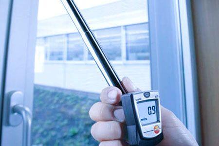 Máy đo Testo 405 dễ dàng đo vận tốc lưu thông không khí trong tòa nhà