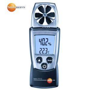 Máy đo Testo 410-2 có thể dễ dàng đo được vận tốc gió
