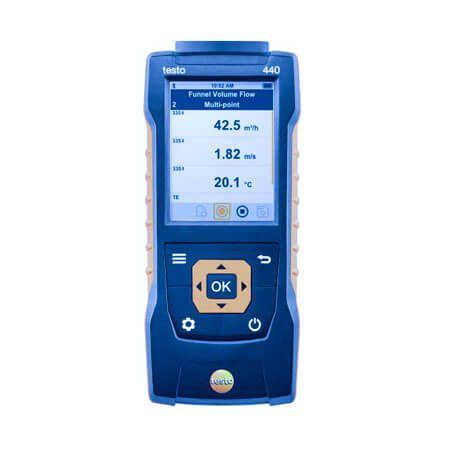 Máy đo Testo 440 sử dụng đo vận tốc