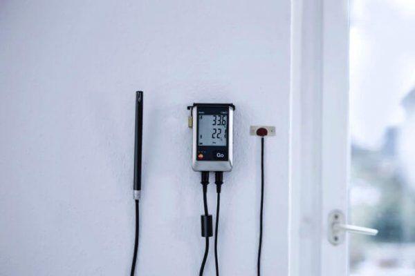 Sử dụng máy ghi độ ẩm testo 176-H1 trong tòa nhà kiểm tra nấm mốc và chất lượng không khí