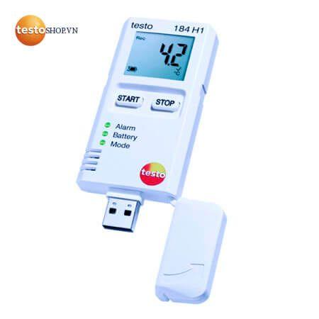 Máy ghi đo nhiệt độ và dộ ẩm Testo 184-H1 cực kỳ nhỏ gọn
