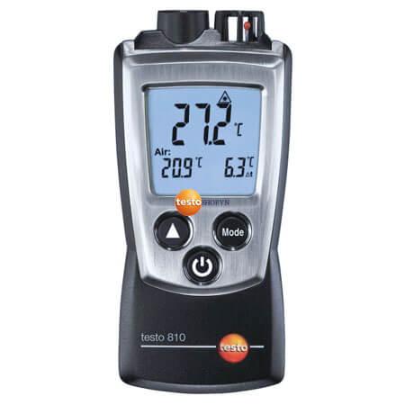 Máy ghi nhiệt độ Testo 810 dễ dàng đo ghi nhiệt độ hồng ngoại chính xác