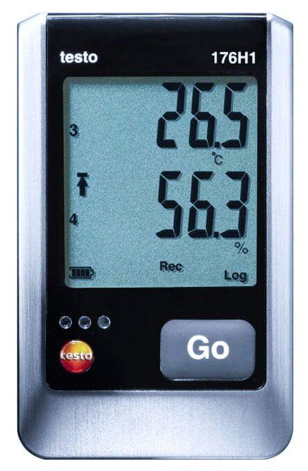 Máy ghi đo nhiệt độ và độ ẩm testo 176-H1 chính xác