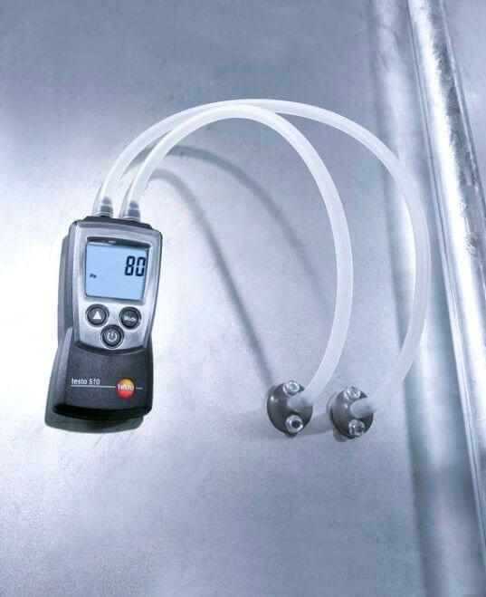 Thiết bị đo áp suất testo 510 sử dụng trong các hệ thống đầu đốt, hệ thống sưởi