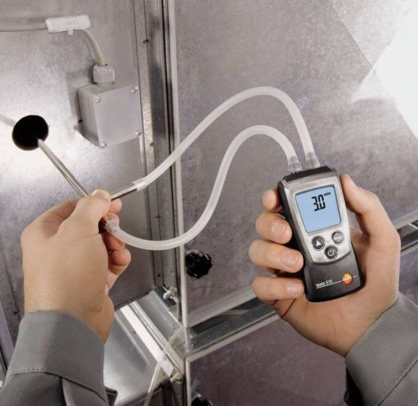 Sử dụng thiết bị đo áp suất Testo 510 cực kỳ dễ dàng